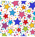 Colorful stars seamless pattern vector image