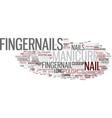 fingerprint word cloud concept vector image