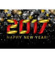 Happy new year 2017 Black space abstraction Happy vector image