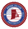 Label sticker cards of State Rhode Island USA vector image