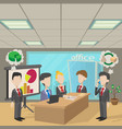 people in a meeting concept cartoon style vector image