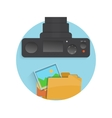 Photograph icon of camera folder and photo vector image