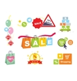 Sale tags Sale banners set Shopping vector image