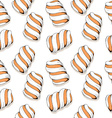 Seamless stylish pattern with marshmallows in a vector image