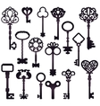 Dark Keys Silhouettes Set vector image
