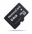 Micro SD memory card vector image