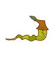 A view of earthworm vector image vector image