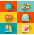 Social media concept in flat design style vector image