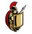 roman soldier with big shield vector image