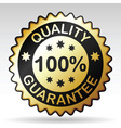 quality guarantee label vector image vector image