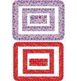 brick stoun frames rectang 380 vector image vector image