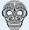 Skull ornament vector image vector image