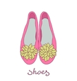 Women ballerina shoes vector image
