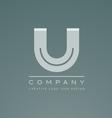 Alphabet letter U logo icon design vector image
