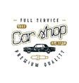 car shop emblem vector image