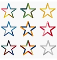 Colored Stars vector image