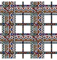 Colorful ethnic geometric aztec tartan seamless vector image
