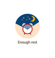 enough rest round flat icon wellbeing concept vector image