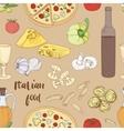 Italian food pattern vector image