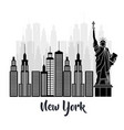 new york city statue of liberty scene vector image