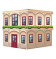 old fashioned style building with red door vector image