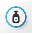 poison icon symbol premium quality isolated vector image