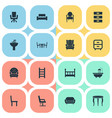 set of simple furnishings vector image