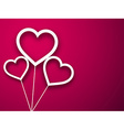 Paper balloon hearts over magenta vector image