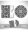 CD cover design template with grey ukrainian vector image
