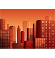 Sunset cityscape background vector image vector image