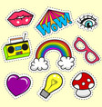 artoon patch badges vector image