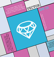 Diamond Icon sign Modern flat style for your vector image