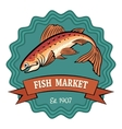 Fish Market vector image