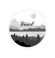 forest logo design beautiful nature landscape vector image