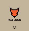 fox logo fox emblem vector image