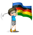 Olympics flag and golf player vector image