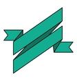 ribbon banner green design icon vector image