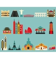 Symbols of famous cities vector image