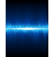 Sound waves oscillating on black EPS 8 vector image vector image