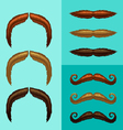 mustaches-part 5 vector image vector image