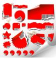 tags and paper elements vector image vector image