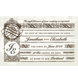 Distressed victorian invitation vector image vector image