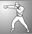 businessman punching with boxing gloves vector image