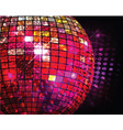 discotheque ball vector image
