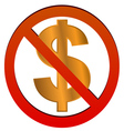 No dollar vector image