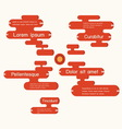 speech bubbles infographics vector image