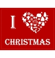 I love Christmas vector image vector image