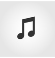 Music note icon flat design vector image