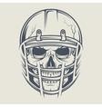 Skull in a helmet to play football vector image