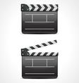 clap board cinema icon vector image vector image